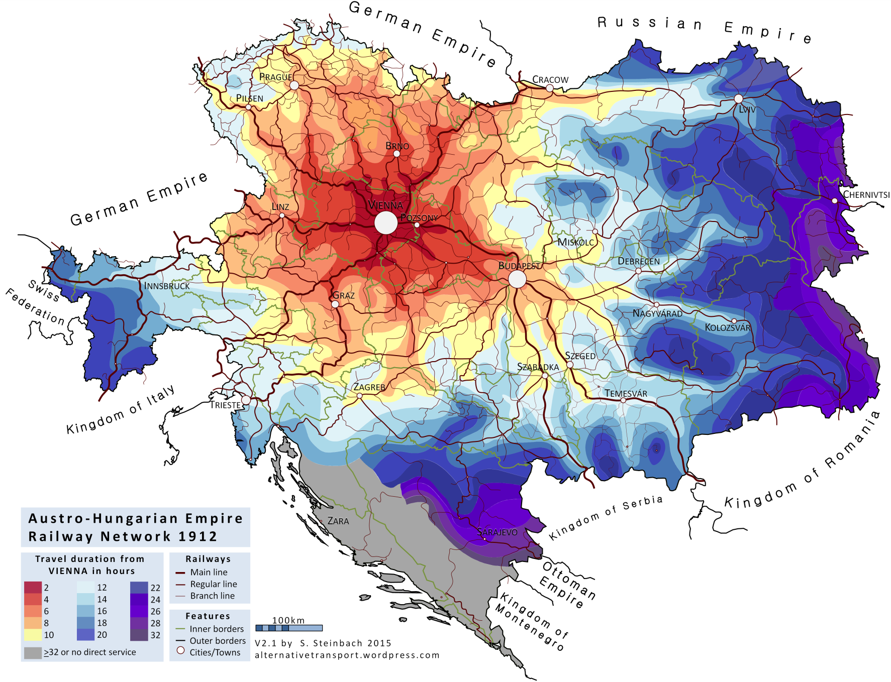 What Is An Isochrone Map Alternative Transport - Map of us rail network