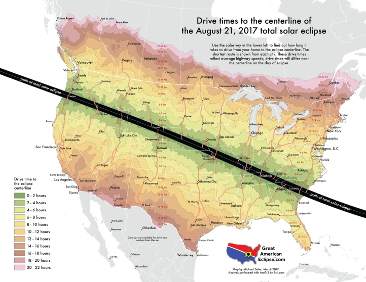 Michael Zeiler Drive time to the centerline of eclipse